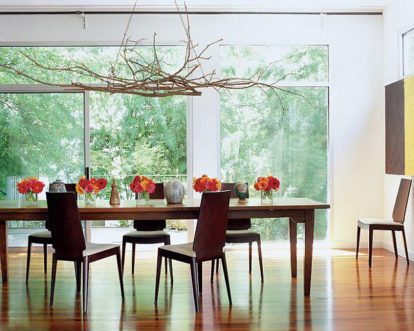 diy modern branches chandelier