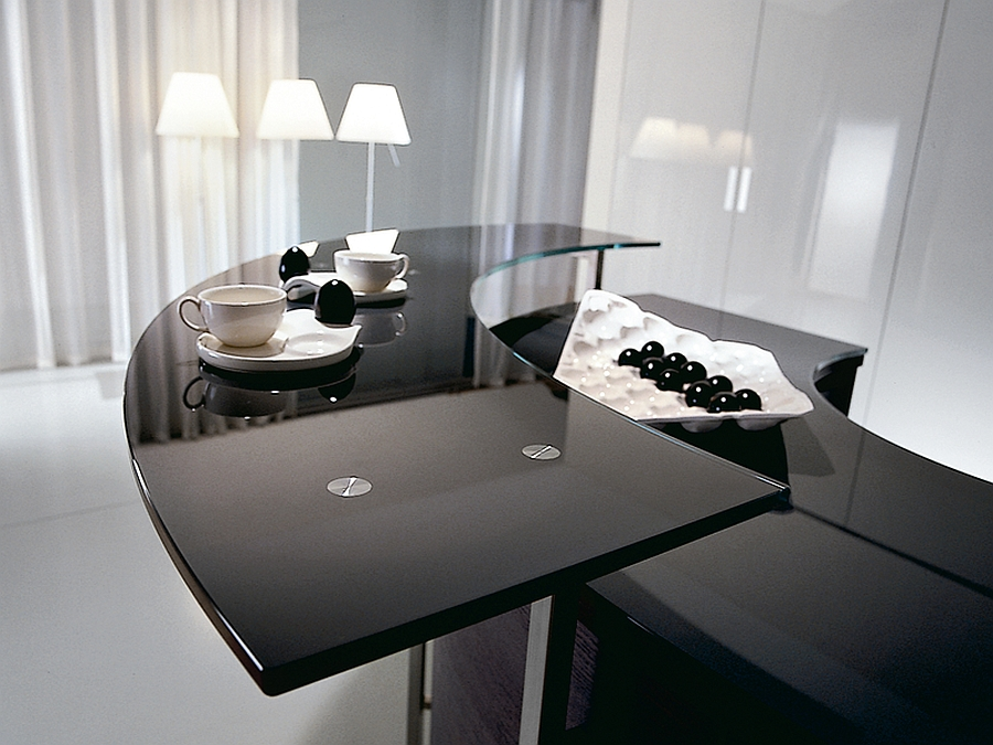 fabulous serving table and breakfast area