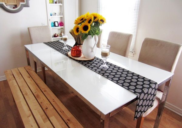 fancy DIY table runner