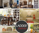 fancy ladder shelves