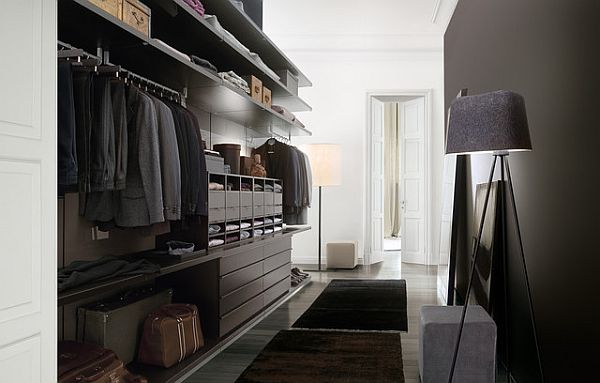 fancy walk in closet for men