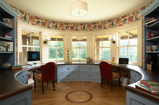 his and hers rounded home office