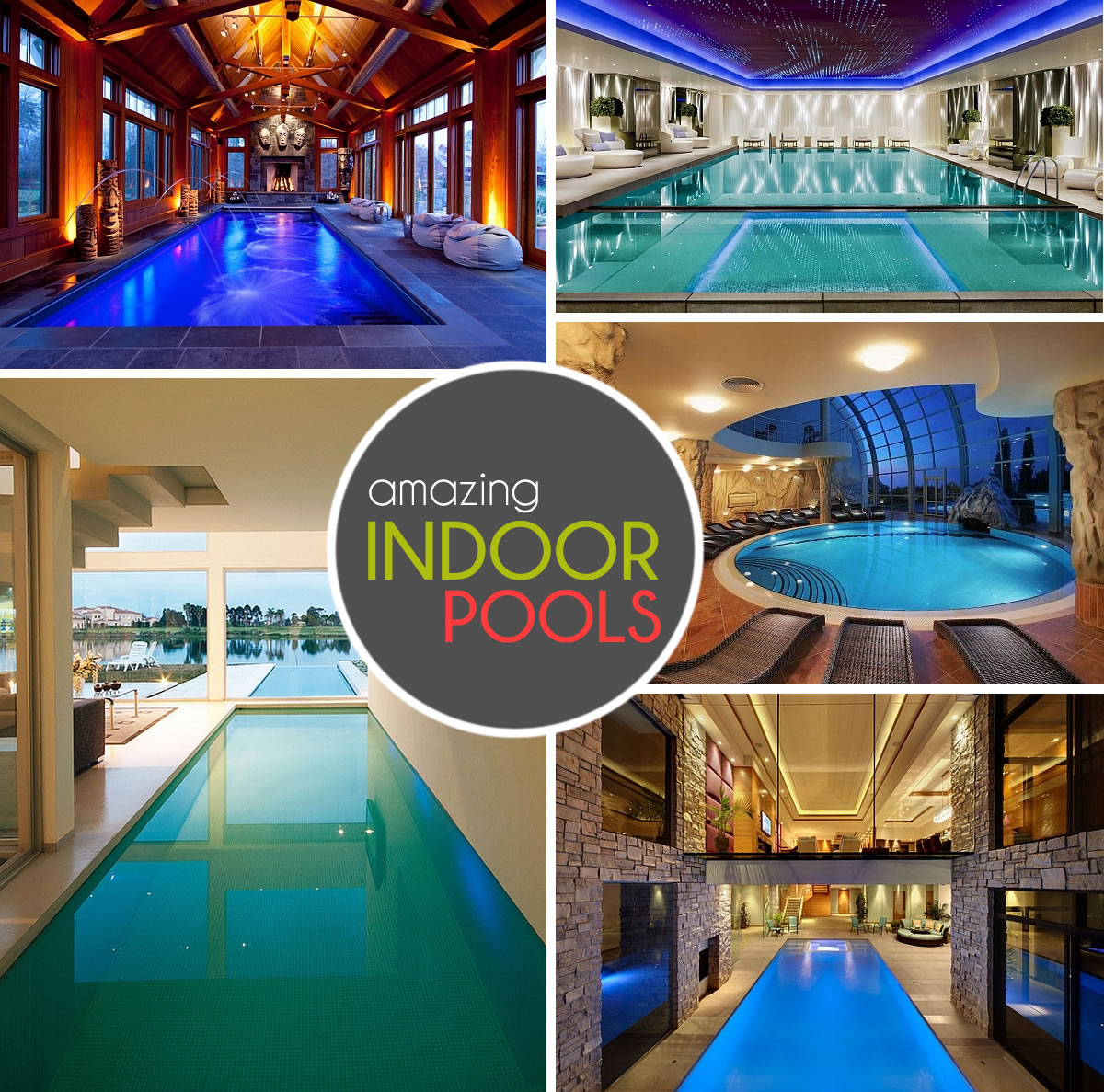 Mansion with indoor pool with diving board  50+ Indoor Swimming Pool Ideas: Taking a Dip in Style