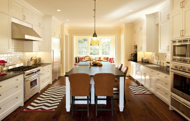Chevron pattern craze how to pull it off at home for Best kitchen rug ideas