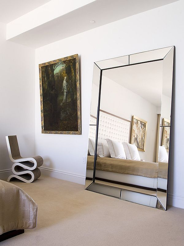 view in gallery large bedroom mirror - Mirror In Living Room Ideas