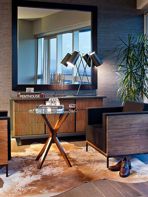 modern living room mirror