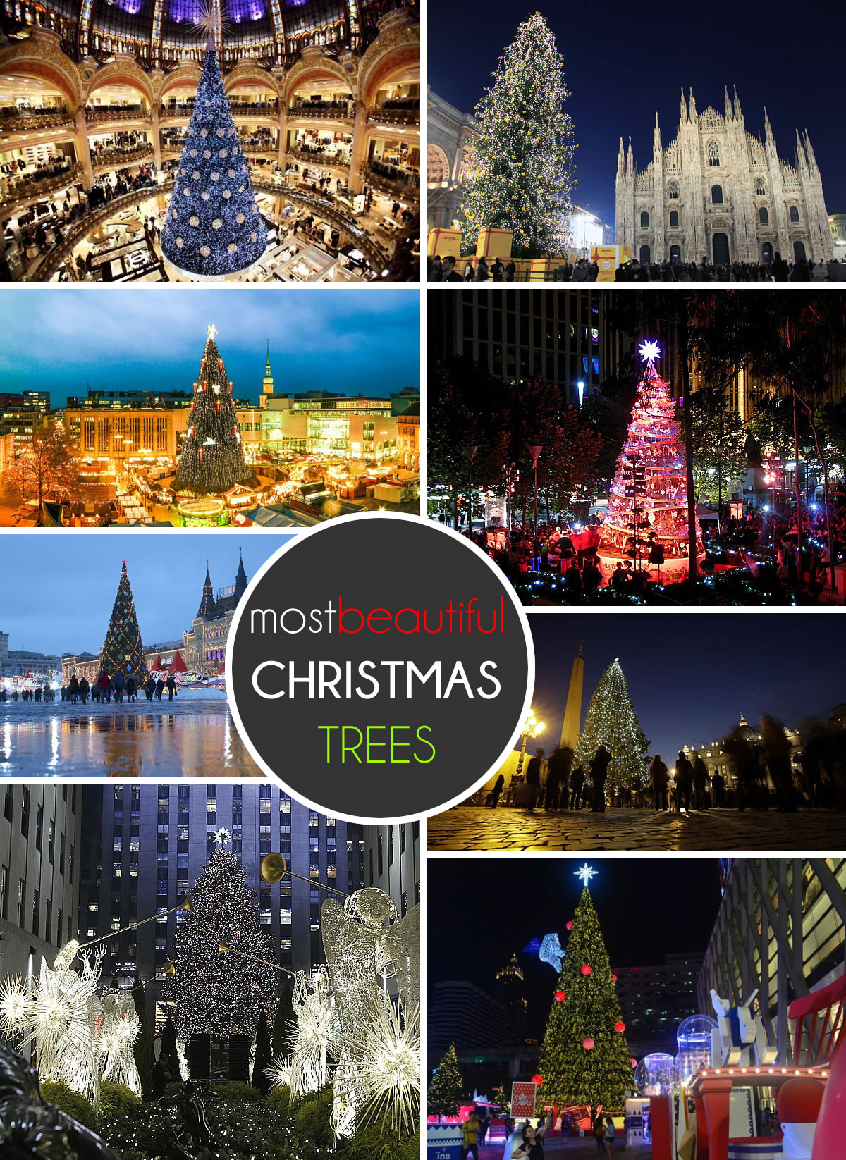 Bei en gedanken the 20 most beautiful christmas trees in for Most beautiful christmas photos