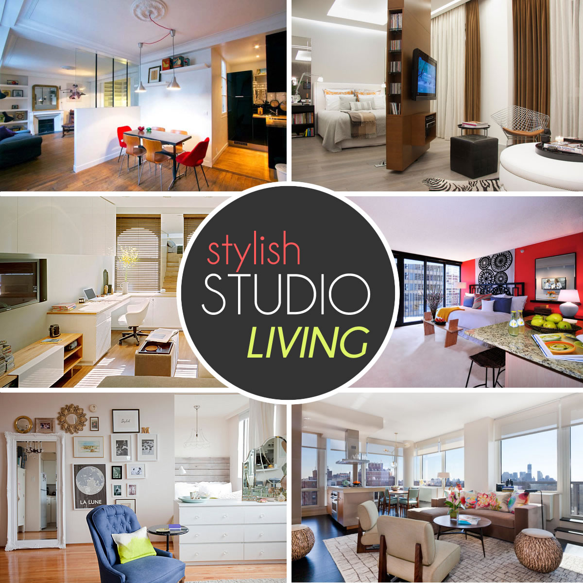 The design lover 39 s guide to stylish studio living for Studio apartment living ideas