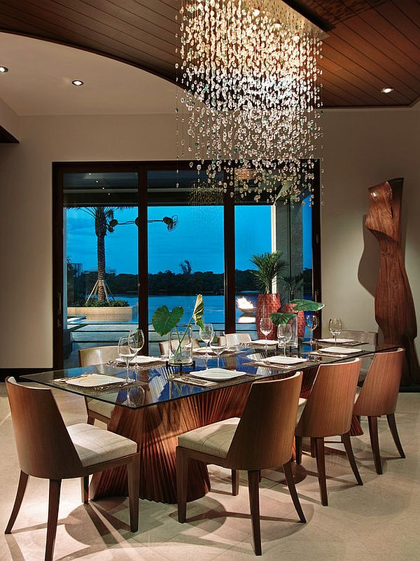 Imposing chandeliers that aren 39 t just for show - Contemporary dining room chandeliers styles ...