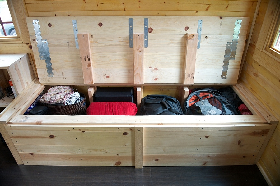 wooden storage trunk design