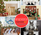 xmas fireplace mantle ideas