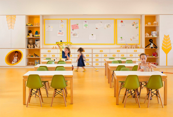 Amazing spaces designed just for kids for Art room decoration school