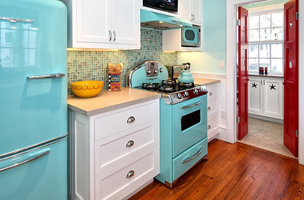 A closer look at the vivacious kitchen
