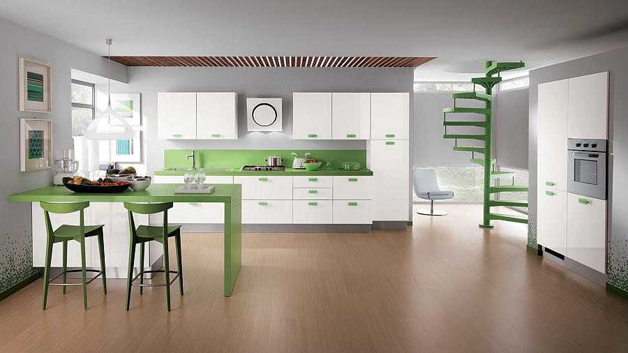 A hint of green for the kitchen