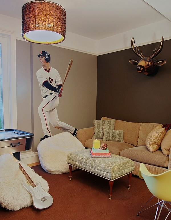 A life-size decal of your favorite baseball player