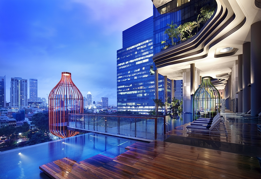 A look at the infinity edge pool on the terrace