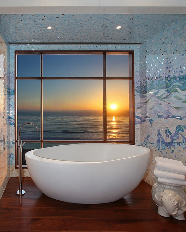 A perfect way to start your day Hot Bathroom Trends: Freestanding Bathtubs Bring Home The Spa Retreat