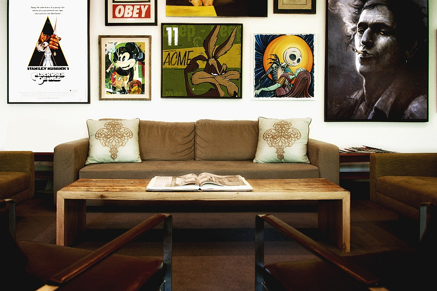 A poster of Clockwork Orange along with Keith Richards to spice things up