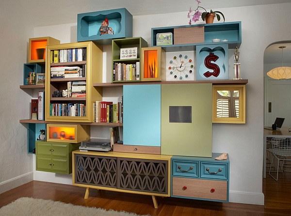 Recycle Wall Cabinet Room Carton Design
