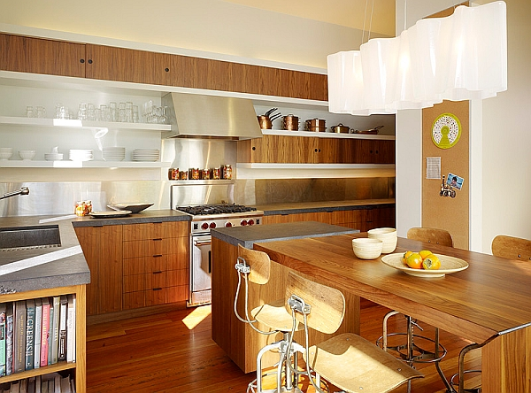 A trendy lighting installation idea for the modern kitchen