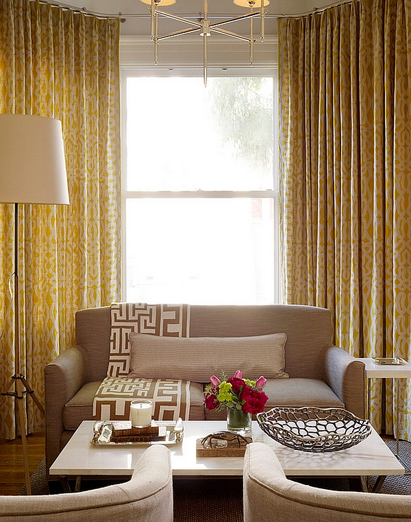 View In Gallery Accent Fabric Adds African Style With Effortless Ease