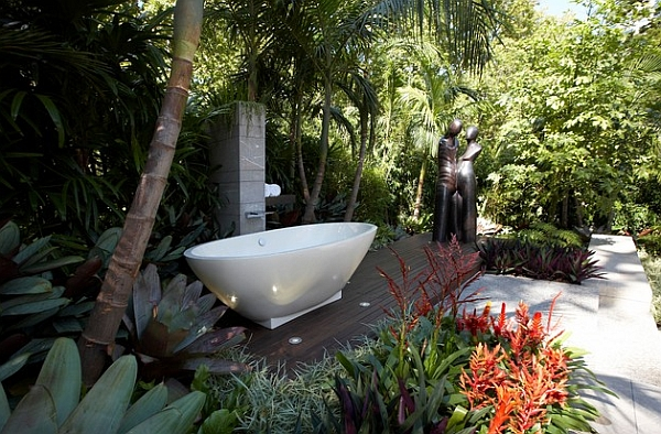 Standalone tubs are not just for the bathroom!