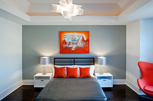 Add interesting an lighting fixture to the bedroom