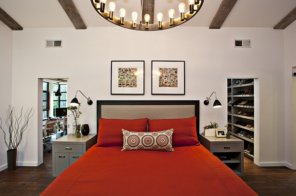 An easy way to add red for a romantic bedroom