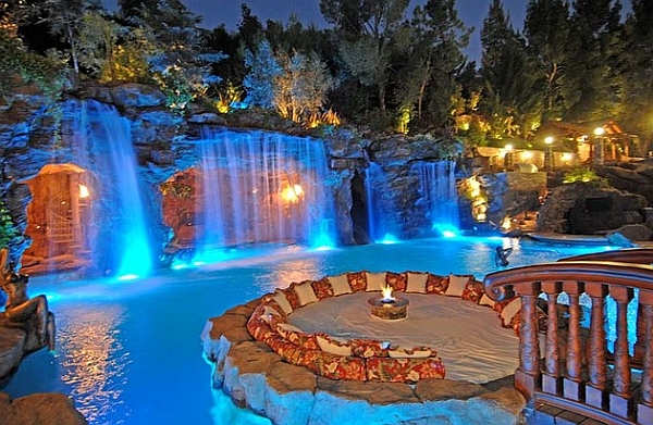view in gallery an expansive water feature live this could set you back by a good million dollars - Cool Pools With Waterfalls In Houses