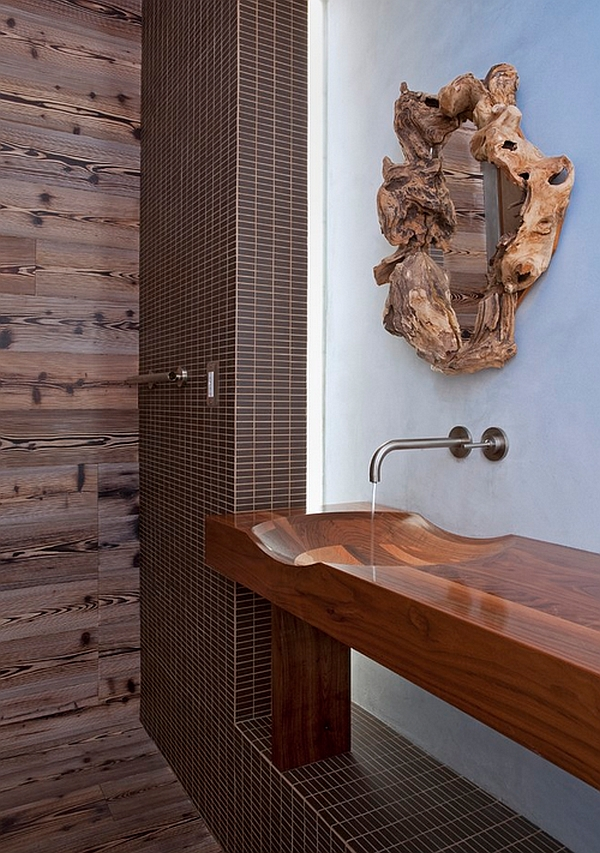 An organic look for your contemporary bathroom