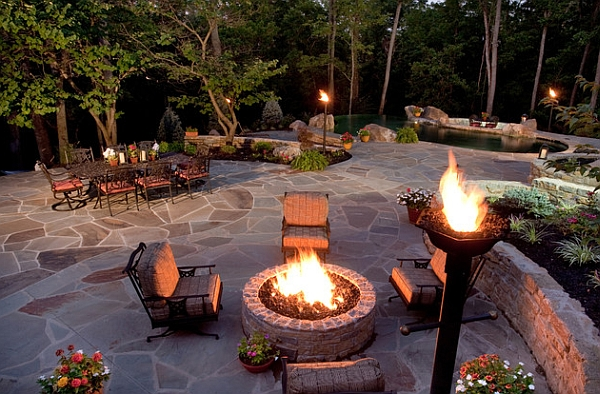outdoor inspiration cool tiki torches to light up your. Black Bedroom Furniture Sets. Home Design Ideas