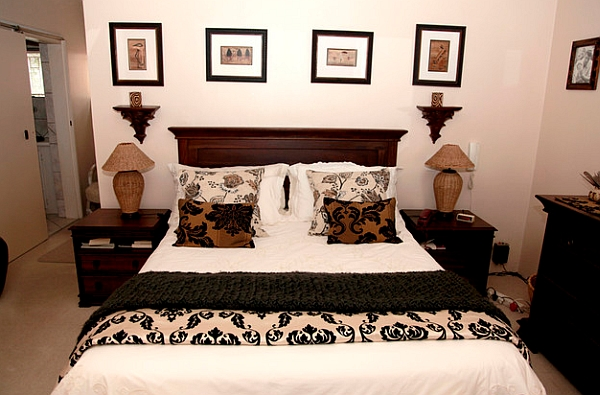 An unmistakably African bedroom