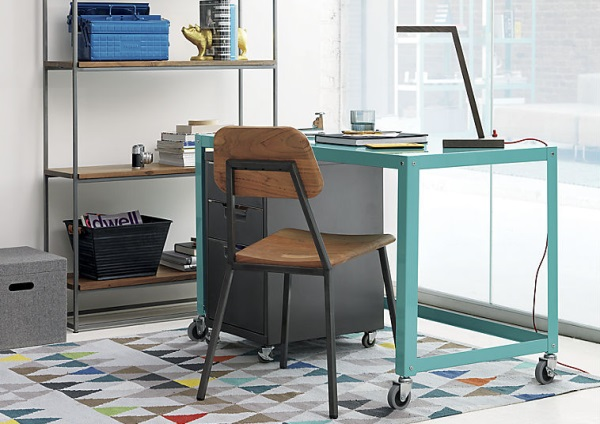 Aqua rolling desk 10 Affordable Furniture and Decor Finds for the New Year