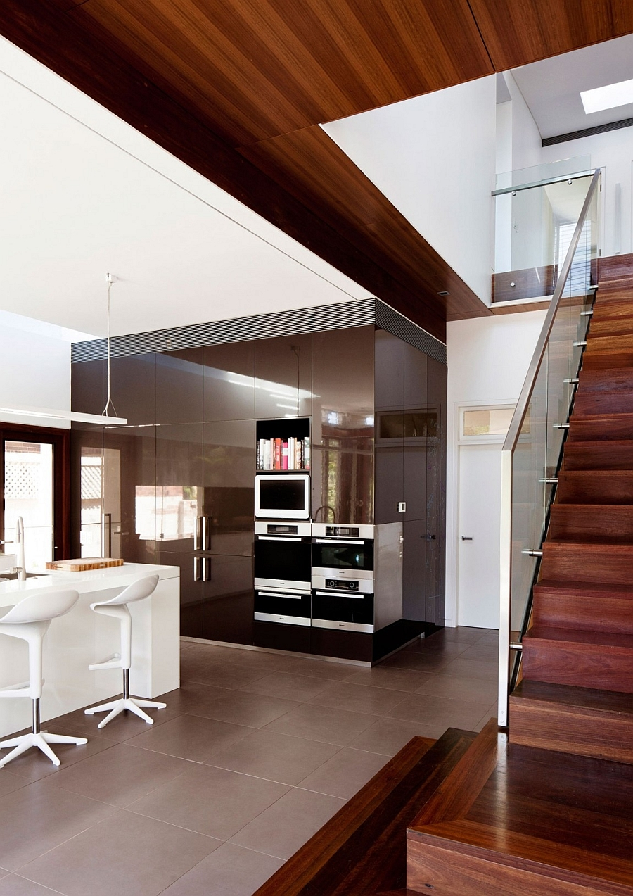 Beautiful modern kitchen with lacquered finish
