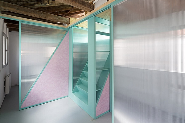Beautiful partitions on guide rails