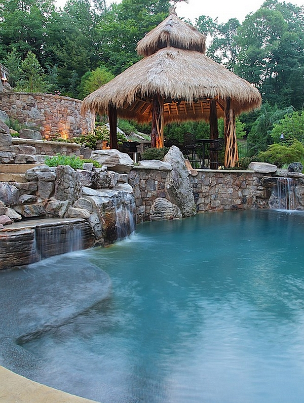 Pools For Your Backyard : Breathtaking Pool Waterfalls To Fashion A DropDead Gorgeous Backyard