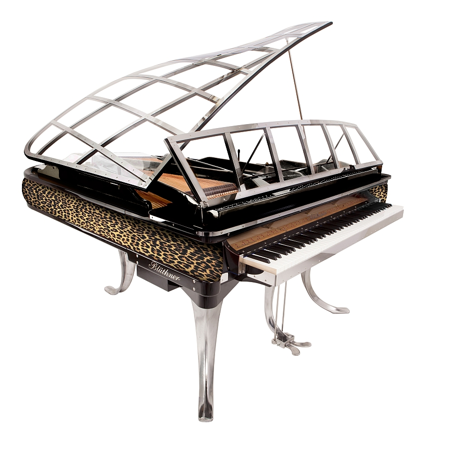 Bold print for modern grand piano