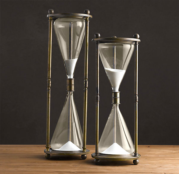 Brass hourglass Design Trend: Brass And Glass