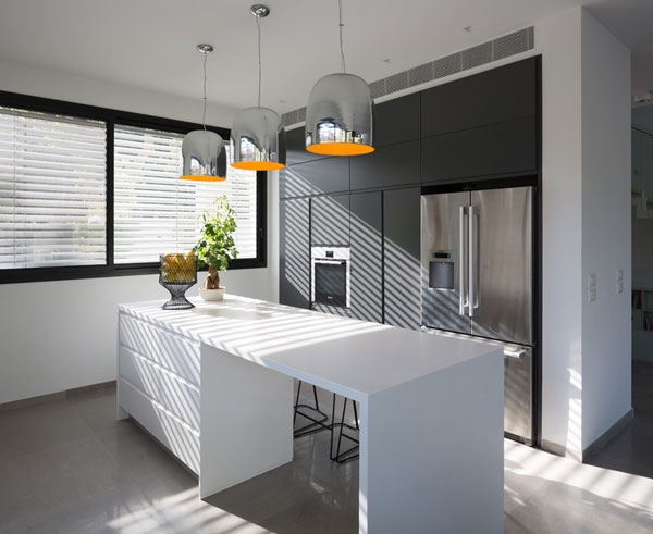 Bright modern kitchen in white