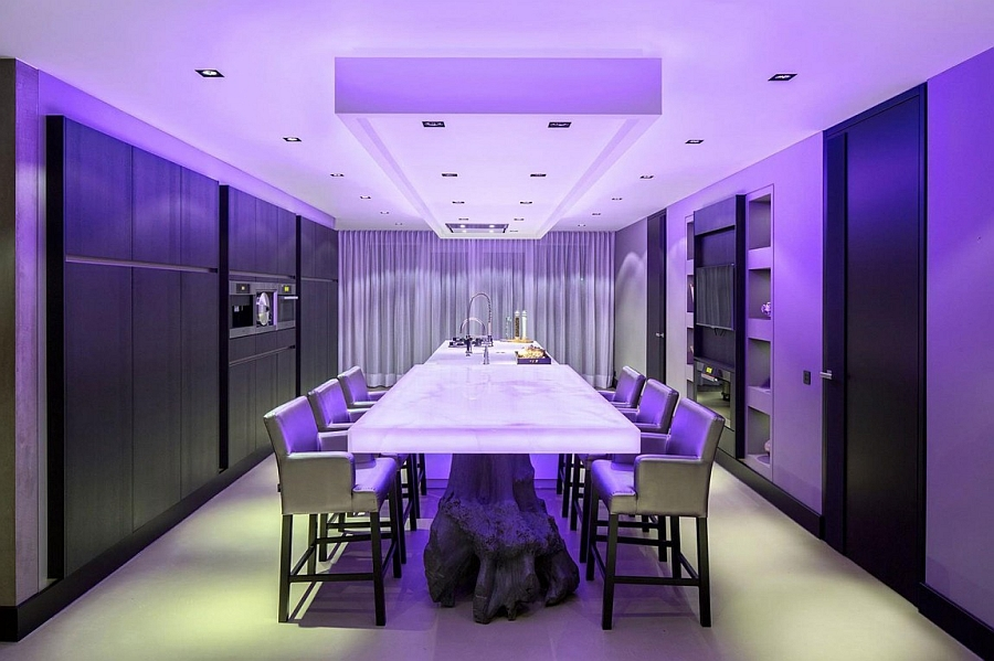 View In Gallery Brilliantly Illuminated Kitchen And Dining Room