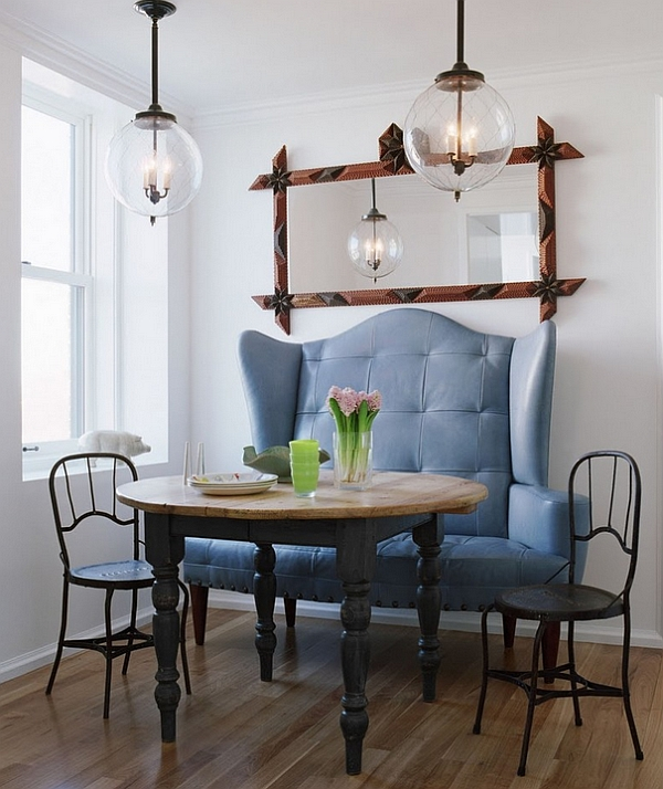 Bring some visual drama to your small dining space!