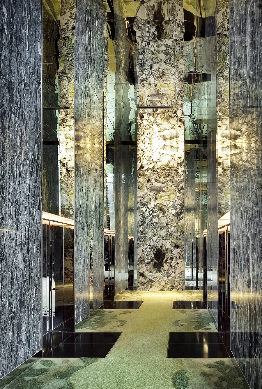 Captivating stone columns stand proudly at the Parkroyal