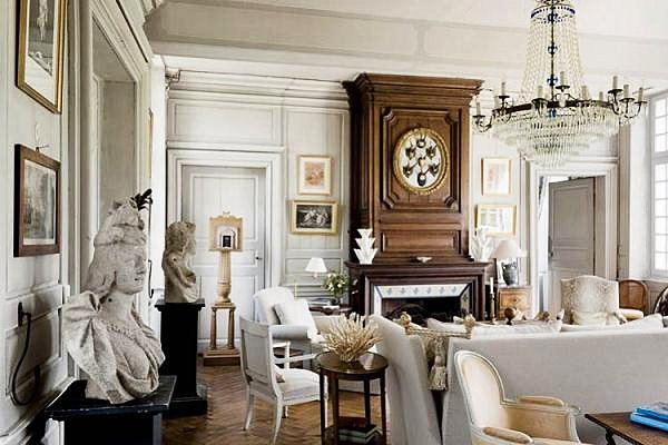 French country interior design ideas for French chic living room
