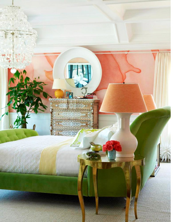 Chic bedroom with tropical accents