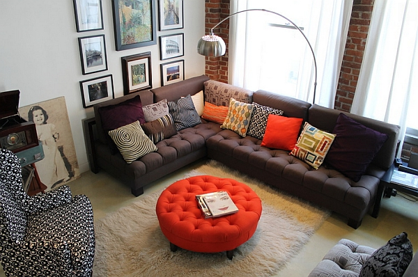 Chic glam meets cool retro overtones at this LA Loft
