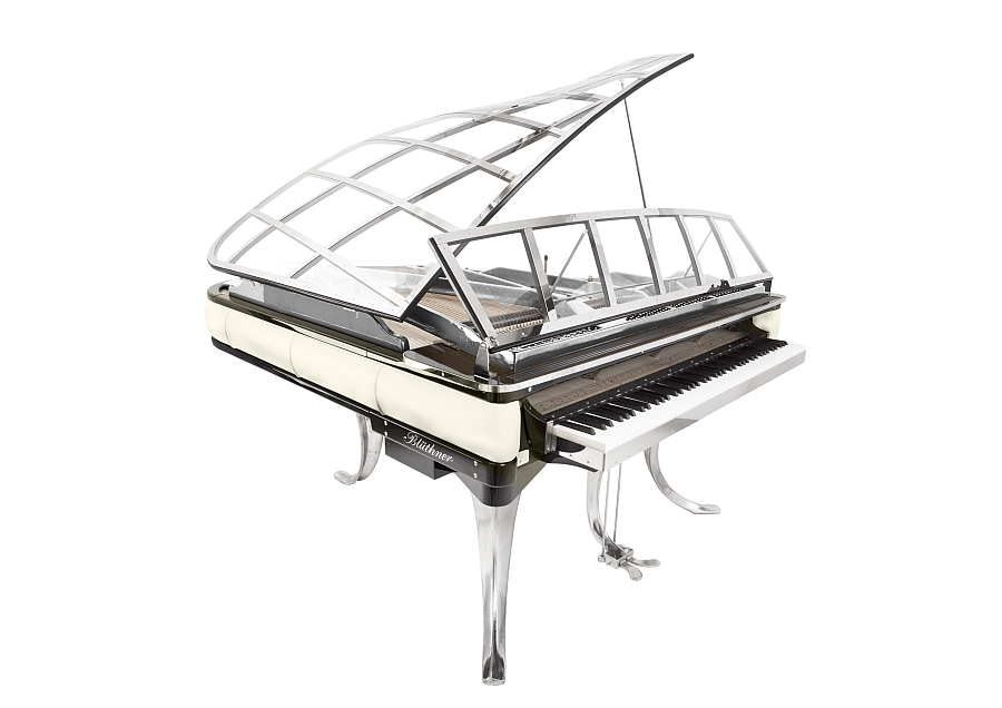 Classy and contemporary white and silver piano