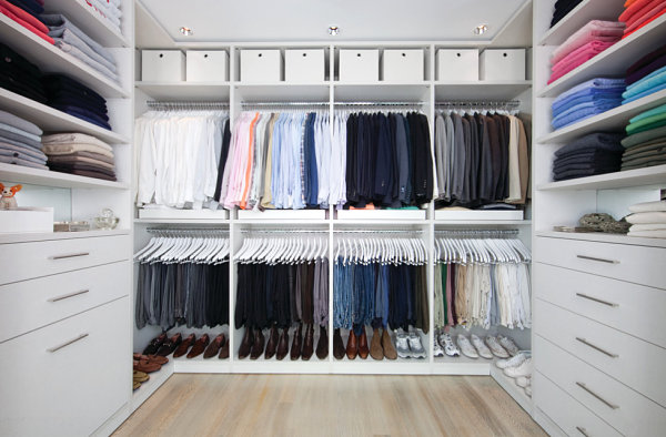 Clothing grouped by color