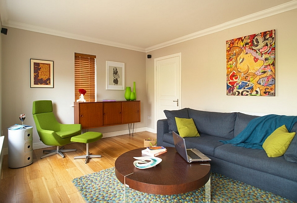 Colorful and quirky living room