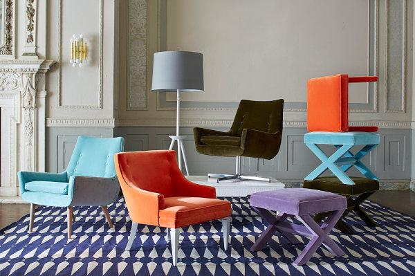Colorful furniture from Jonathan Adler