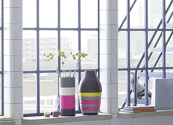 Colorful modern vases